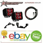 Rigid For Ram 2500/3500 03-09 Radiance Pod Red And Fog Light Kit And Harness