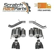 Corsa Axle-back Exhaust System Quad Rear For 16-19 Cadillac Ats 304 Ss 14478
