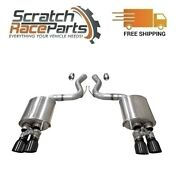 Corsa Valved Axle-back Exhaust System Quad Rear For 18-19 Mustang 304ss 21002blk