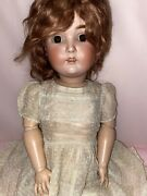 """Antique Adorable 25"""" German Kestner Bisque Child Jointed Doll 171 W/ Clothes"""