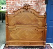 French Antique Carved Walnut Henry Ii Full Size Bed | Bedroom Furniture