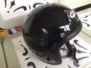 Vintage 1970andrsquos Bell Rt Helmet 7 1/4 Black Road And Track Excellent Condition