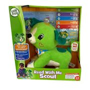 Leap Frog Read With Me Scout Dog Plush Interactive Toy 5 Books Set New