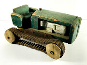 1920and039s 30and039s Dust Bowl Folk Art Farm Tractor Truck Toy John Deere
