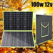 Solar Panel Kit 100w 12v Foldable Portable Charger Car Boat Camping Home