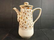 Fosters Pottery Cornwall Vintage Light Honeycomb Coffee Pot 10andrdquo High