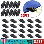 20pcs Camping Awning Canopy Clamp Tarp Clip For Car Boat Cover Emergency Tent
