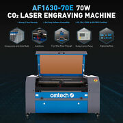 Omtech 70w Co2 Laser Engraver Cutter Autofocus With 30x16 Workbed Blueandgray