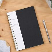 Spiral Notebook 6.10 X 8.19 College Ruled Journal With Inner Pockets 160 Pages