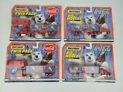Vintage Coca-cola 1999 Matchbox Twin Pack Semi Polar Bear And Big Movers Lot Of 4