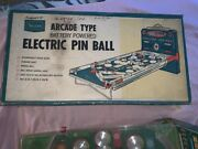 Rare Vintage Sears Arcade Type Battery Powered Electric Pinball With Box