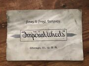 1890's Ames And Frost Company Imperial Wheels Catalog Chicago Ill Bicycles