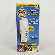 Night Light Ionic Air Purifier Permanent Stainless Steel Filter New Wall Plug