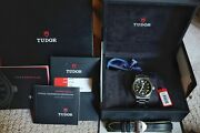 Discontinued Tudor North Flag Black Stainless Steel 40mm 91210n Both Strap