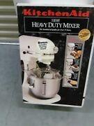 New In Box Kitchenaid Whheavy Duty 5 Quart Stand Mixer Plus 4 Additional Beaters