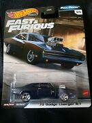 Hot Wheels Premium Fast And Furious Full Force Domand039s And03970 Dodge Charger R/t Black