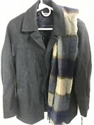 Tommy Hlfiger Menand039s Wool Walking Coat With Scarf -grey- Size Xsmall Msrp275.00