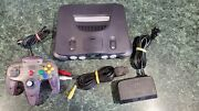 Authentic Official Nintendo 64 N64 Console Controller Cords Bundle Working Nice
