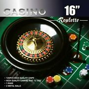 Da Vinci 16 Inch Roulette Wheel Game Set With Large Size Felt And Heavy Chips