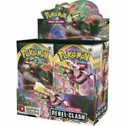 Pokemon Sword And Shield Rebel Clash Booster Box 36 Pack New Factory Sealed