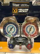 Yellow Jacket 2 Valve Manifold Titan R404a R22 And R134a Red And Blue Gauges