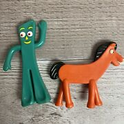 Vintage Gumby And Pokey Rubber Bendable Figures By Prema