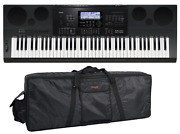 Casio Wk-7600 76-key Portable Arranger With Stagg Padded Gig Bag