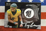 Trey Lance 2021 Wild Card Rookie Rc Auto Silver Thumbagraph 1/3 49ers Nd State