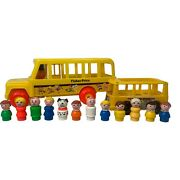 Fisher Price Little People Bus + Figure Lot 1984 1969
