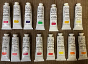 Lot Of 15 Winsor And Newton Artists' Oil Colour Paint 37ml Tubes Series 1, 2, And 4