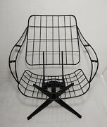 Vintage Mid Century Modern Metal Wire Patio Lounge Spring Rocking Chair Eames