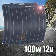 Solar Panel Kit 100w Flexible 12v Battery Charger System Home Car Boat Camping