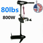 80lbs 12v Electric Thrust Motor Boat Outboard Motor Engine 800w Manual Control