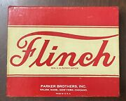 Vintage Parker Brothers Flinch Card Parlor Game In Original Box W/ Instructions+