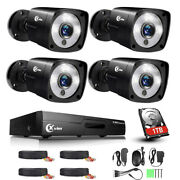 Xvim 1080p 8channel Color Home Security Camera System Spotlight Cctv 1tb Hdd