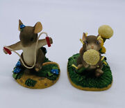 Fitz And Floyd Charming Tails Lot Of 2 Dandelion Wishes Hop Skip And Jump Away