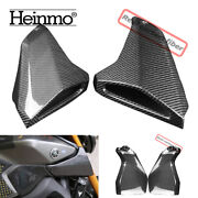 Rear Carbon Fiber Gas Fuel Side Tank Air Intake Panel Cover For Yamaha Mt09 Fz09