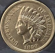 1859 Indian Head Penny Some Diamonds Beautiful Coincleaned