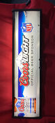 Coors Light Nfl Football Lighted Beer Long Wall Sign 41andrdquox12andrdquo