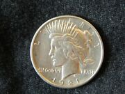 1921 Peace Silver Dollar High Relief Coin Great Coin Bu 3 Last One