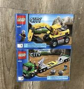 Lego City Excavator Transport 4203 100 Complete With Instructions