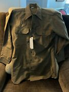 Vintage Wwii Us Military Army 10th Mtn. Division Wool Combat Shirt Surplus