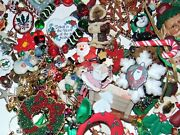 Vintage-now All Christmas Junk Jewelry Lot 2 Lbs Crafts Parts Free Ship 2