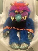 My Pet Monster 1986 With Handcuffs Amtoy American Greetings Large Plush Stuffed
