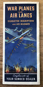War Planes And Air Lanes Ww2 Identify Guide And Maps Sunoco Rare Beautiful Cond