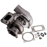 Street Gt35 Gt3582 Universal Turbo T3 Flange A/r .63 Anti-surge Water+oil Cooled