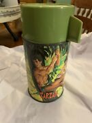 Antique 1966 Aladdin Tarzan Lunch Box Thermos. Well Taken Care Of.