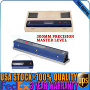 300mm 12'' Master Precision Level In Fitted Box For Machinist Tool 0.02mm/m Usa