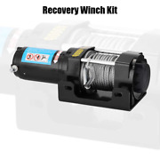 4000lbs Electric Recovery Winch Kit Atv Trailer Truck Car Dc12v Remote Control