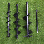 52cc Petrol Earth Auger Fence Post Hole Borer Ground Drill+3 Bits/extension Pole
